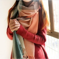 2014 winter new fashion Korea style women scarf overlength Cashmere plaid Scarves large lady  shawl Free shipping