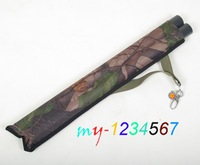 Two Tubes Quiver Canvas with Clip Camo Archery Practice Waist Strap