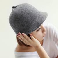 Wool cap   new arrival girls buns cap fedoras cap