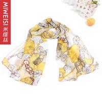 spring and summer air conditioning silk scarf wheel chain print silk scarf  scarf 2