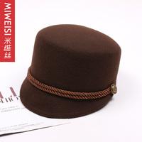 Wool cap  hat  woolen cap street cadet cap rivet cap