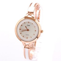 Women's Watch Bracelet Wholesale Luxury Fashion Line Style Casual Women Rose Gold Plated Design Free Shipping
