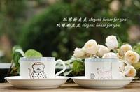 Exquisite gift box set new homes lovers mug coffee cup bone china sweethome