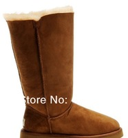 Free shipping  quality 100% outside sheepskin+ inside wool snow Boots Classic styles boots wholesale drop shipping