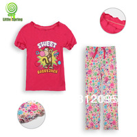 New Girls Summer Pyjamas Girls Kids Sleepwear pjs Bobby jack girls clothing set suits Monkey clothes Little Spring GLZ-T0151