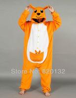 Factory Sales Kangaroo Cosplay Costume Adult Onesie Pyjamas Christmas Halloween Animal Costume Sleeplwear Free Shipping