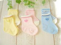 Love striped socks newborn solid color socks cute baby floor socks baby non-slip relent socks 6pairs