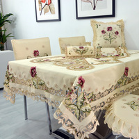 Rustic table cloth cutout dining table cloth table runner coffee table fabric chair cover tablecloth cushion fashion luxury
