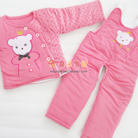 2013 baby clothes child wadded jacket baby set male girls clothing winter clothes b75