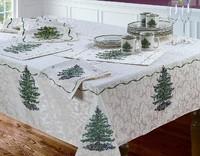 Derlook spode christmas tree christmas tree handmade jacquard table cloth round tablecloth