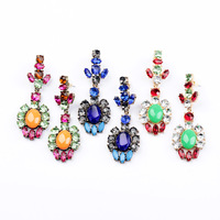 Fashion Vintage Neon Multicolour Crystal Stud Earring 2013