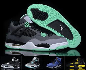 Authentic Air jordan 4 men's niked air jordan IV basketball shoes 100% genuine leather quality original Jordan 4 free shipping
