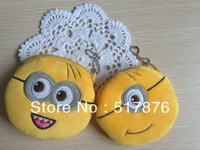 New arrival update version  Despicable ME Movie Coin purse Wallet Pouch Case Holder Plush coin bag  20 pcs/Lot