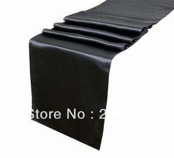 Wholesale 200pcs Black Satin Table Runner 30cmX275cm Wedding/HOT/Free shipping