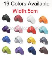 New Fashion Classic 5cm Solid Color Men's Neck Tie Necktie 19 Colors Free Shipping