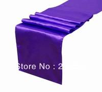 Wholesale 200pcs Purple Satin Table Runner 30cmX275cm Wedding/HOT/Free shipping