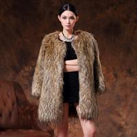 Fox fur coat 2013 autumn and winter women fox fur coat medium-long thermal overcoat