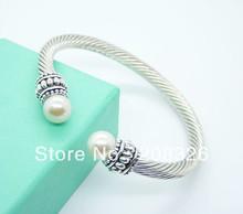 cheap silver pearl bangle