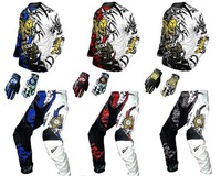 free shipping wholesale motorcycles motorcorss cross T-shirt + trousers + glove quick drying motorcross clothing for adult child
