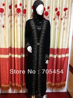 free shipping high quality black muslim women abaya/islamic clothing MA023