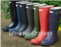 2013 Fashion Matt Rain Boots Classic Brand Boots Waterproof Women Wellies Short Boots FREE SHIPMENT
