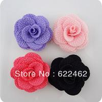 100 Pcs Ribbon Flowers Wedding Decor Sewing Appliques DIY Crafts A0119