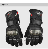 2013 Motorcycle Gloves Winter Warm Waterproof Windproof Protective Sports Racing Gears Accessories Free Shipping