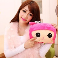 Explosion-proof double charge hot water bottle challenge po cartoon plush fabric electric heater cute hot water bottle