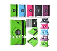Green ( More Color ) 360 Rotating PU Leather Stand Case Cover for ASUS MeMO Pad HD 7 ME173X with Free Stylus & Screen Protector