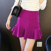 2013Hot Sale Fashion  Slim Women's Short Skirts Ruffles A-line Skirts Bust SkirtsPurple  High Waist FishTail Slim Hip Skirts