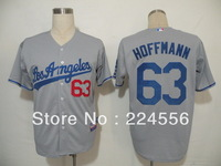 ew Los Angeles Dodgers #63 Hoffmann white Baseball Jersey Embroidery logos free shipping Size 48-56