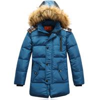 2013 male child down coat children's clothing down coat child down coat big boy down coat long design