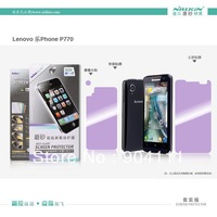 High Quality Nillkin Anti-Fingerprint Crystal/Matte Screen Protector For Lenovo P770 With Retail Package,Free Shipping