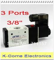 "EMS Free Shipping 3 Ports 3/8"" Airtac Solenoid Valve Air Pneumatic Solenoid Control Valve Alumium Body 3V310-10"