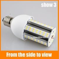 Free shipping 15W 360 Degree Medium Base Aluminum Fins Heat Sink High lumen E27 110VAC 3528 smd led Corn Light Bulb