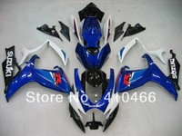 Injection Molded Fairing for SUZUKI GSXR600 750 GSXR600 GSXR 750 K6 06 07 2006 2007 white blk blue Moto Fairings kit SQ123
