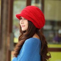 Rabbit fur knitted hat winter hat winter women's millinery winter hat