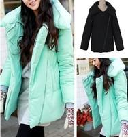 2013 women's winter macaron mint green pillow wadded jacket outerwear cotton-padded jacket thick outerwear