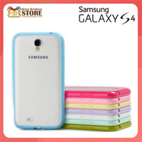 Free shipping  samsung   i9508 i9500 mobile phone case soft hard i9500 two-color protective case galaxy s4 phone case