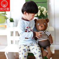 Freeshipping! Baby underwear baby lounge set spring and autumn female male child child long johns set