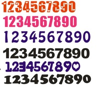 Customize acrylic number pattern digital customize crystal logo acrylic three-dimensional wall stickers