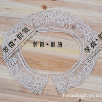 Free Shipping Vivi collar  all-match pearl false collar  decorative pattern o-neck lace collar X'mas gift