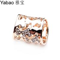Yapolo rhinestone silk scarf ring silk scarf tube rhinestone r0019
