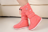 free shipping!2013 new high boots Snow boots edition high japanned leather space boots !Hot sale