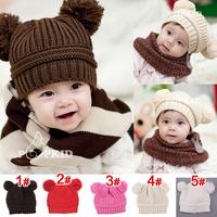 Free shipping 3pcs/lot 2015 fashion Baby girl boy lovely crochet hat Handmade knitted hat kids winter cap infant warm headgear