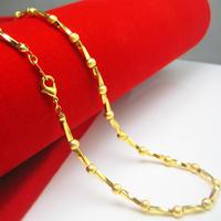 Original design gold beads necklace Men 18k gold 999 fine gold chain bead transfer gold