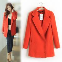 2013 autumn and winter medium-long elegant woolen overcoat female
