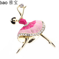 Yapolo rhinestone brooch girl brooch fashion a0016
