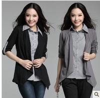 3xl bust 110cm  ropa de mujer roupas femininas Plus size clothing mm autumn shirt sweater t-shirt cardigan faux two piece set
