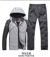 free shippingsport suit for man sportswear hoodies and pants jackets for men for choice size L-4XL two piece set 138